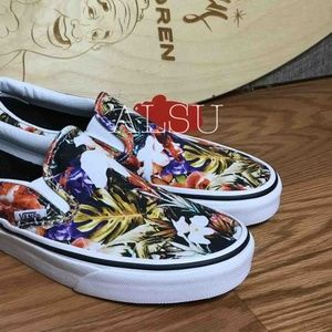 VANS CLASSIC Slip On Cuban Floral Kid's AUTHENTIC